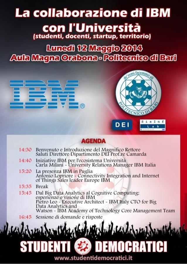 La collaborazione di IBM con il Politecnico di Bari