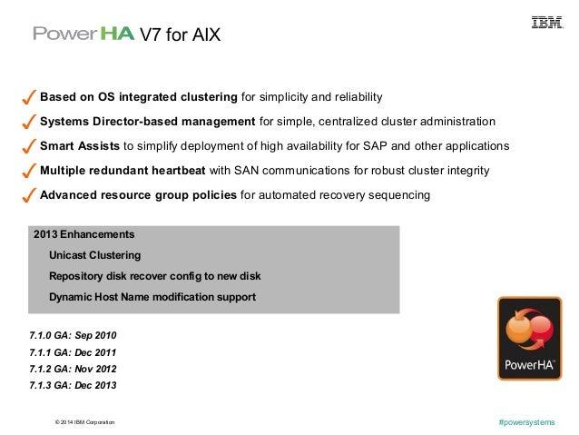 © 2014 IBM Corporation #powersystems 7.1.0 GA: Sep 2010 7.1.1 GA: Dec 2011 7.1.2 GA: Nov 2012 7.1.3 GA: Dec 2013 ✓ Based o...