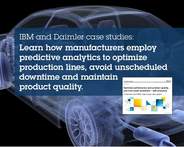 ibm predictive analytics case studies Case studies learn more  some opt for dashboards, while others begin with predictive analytics  contact ibm considering a purchase.