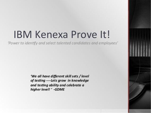 kenexa prove it