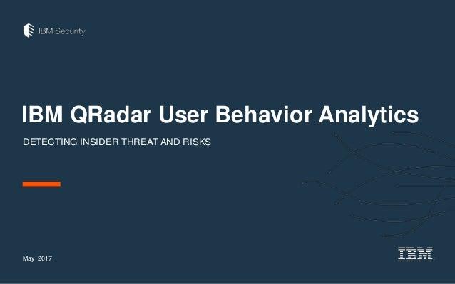 IBM QRadar User Behavior Analytics DETECTING INSIDER THREAT AND RISKS May 2017