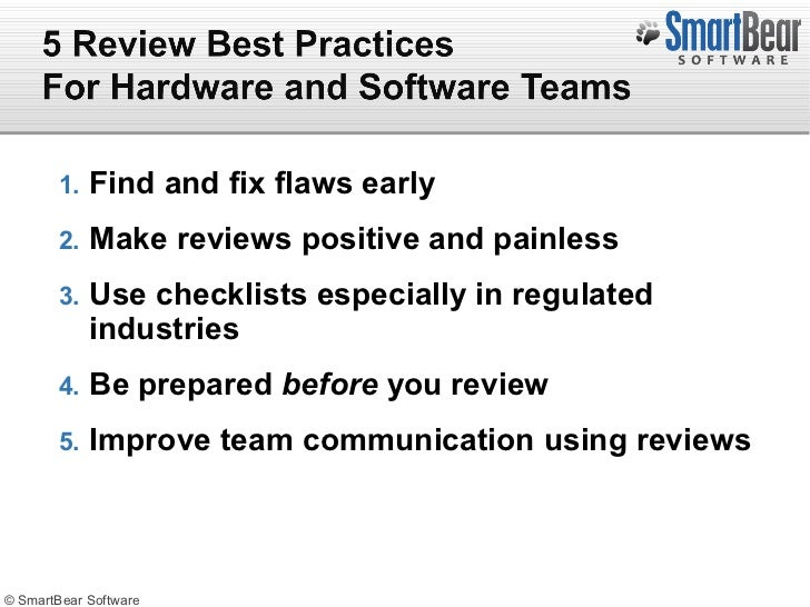 IBM Rational & SmartBear Present: How Peer Review & Collaboration Can…