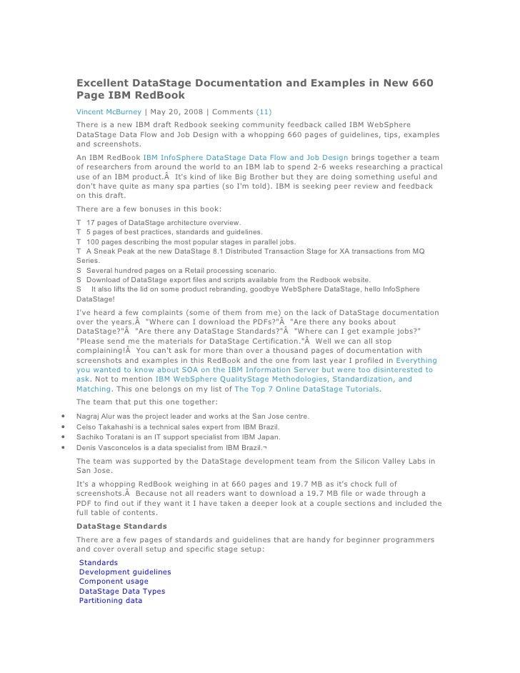 Data pdf design datastage infosphere flow and job ibm