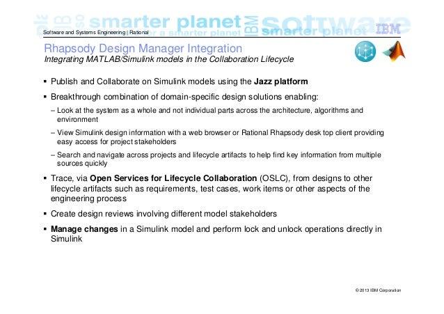 IBM Rhapsody and MATLAB/Simulink