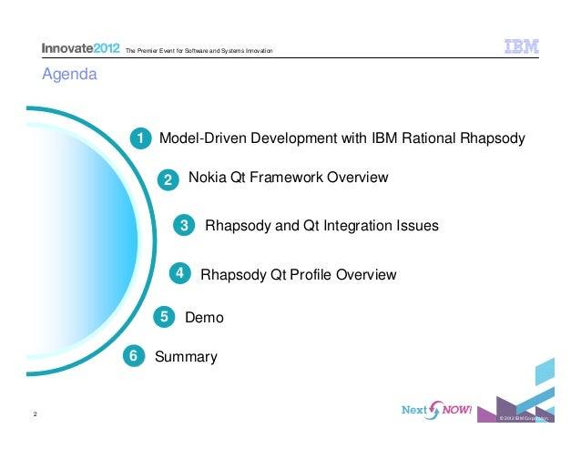 IBM Rational Rhapsody and Qt Integration Slide 2