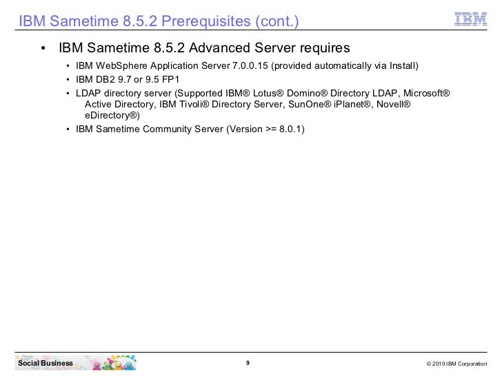 IBM Sametime 8 5 2 installation - From Zero To Hero - Edge