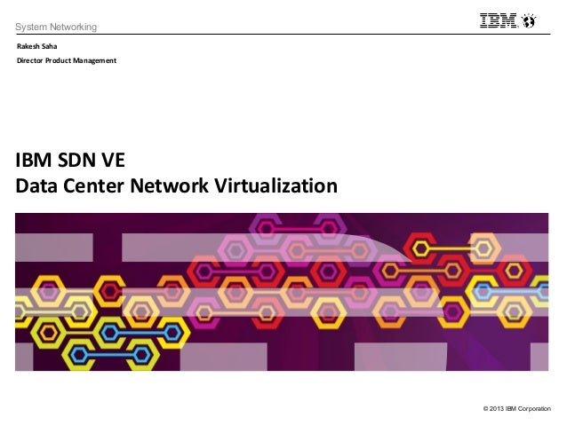 © 2013 IBM CorporationSystem NetworkingIBM SDN VEData Center Network VirtualizationRakesh SahaDirector Product Management