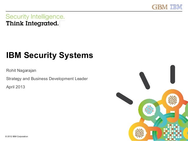 © 2012 IBM CorporationIBM Security Systems1© 2012 IBM CorporationIBM Security SystemsRohit NagarajanStrategy and Business ...