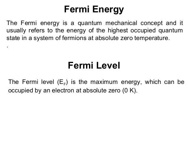 fermi energy level in semiconductors pdf