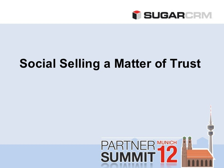 Social Selling a Matter of Trust