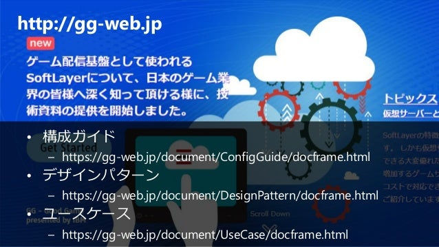 IBM Cloud: Think it. Build it. Tap into it. http://gg-web.jp • 構成ガイド – https://gg-web.jp/document/ConfigGuide/docframe.htm...