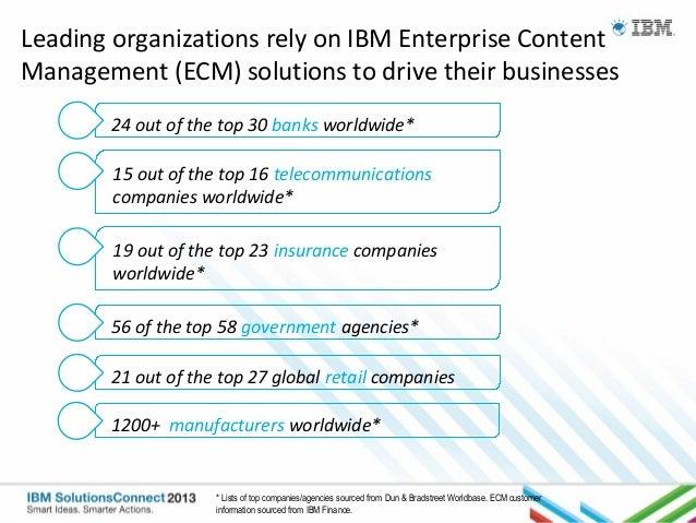 IBM Solutions Connect 2013 - Enterprise Content Management