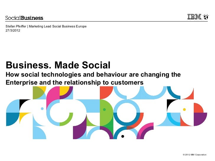 Stefan Pfeiffer   Marketing Lead Social Business Europe27/3/2012Business. Made SocialHow social technologies and behaviour...
