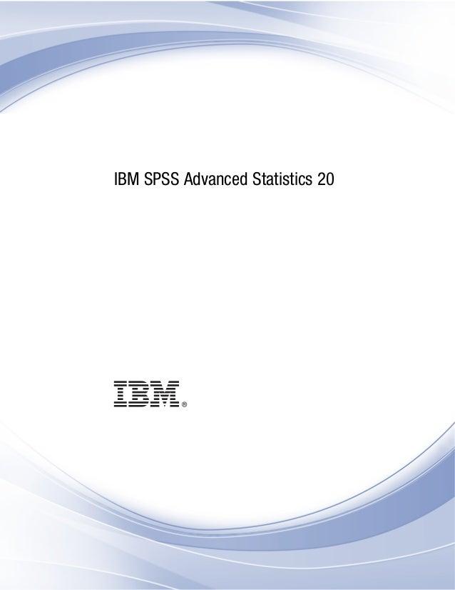 i  IBM SPSS Advanced Statistics 20