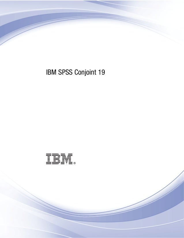 i IBM SPSS Conjoint 19