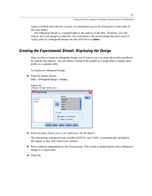 how to use spss 21