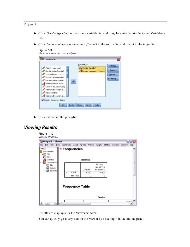 ibm spss statistics 19 brief guide When creating a new variable, a unique (usually short) variable name must   the spss program (eg ibm spss statistics 19) 4 click to start.