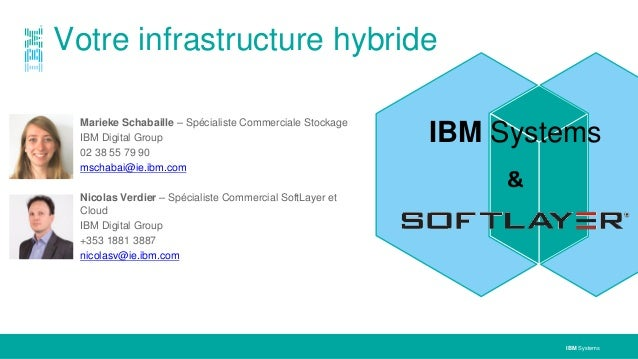 IBM Systems Marieke Schabaille – Spécialiste Commerciale Stockage IBM Digital Group 02 38 55 79 90 mschabai@ie.ibm.com Nic...