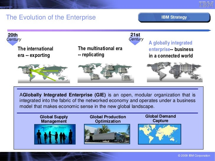 what global forces drove ibm to become a globally integrated enterprise Global enterprise mobility market: need for efficient communication across all devices in enterprise to drive growth, says tmr report preview report description.