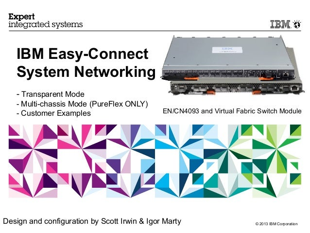 IBM Easy-Connect   System Networking   - Transparent Mode   - Multi-chassis Mode (PureFlex ONLY)   - Customer Examples    ...