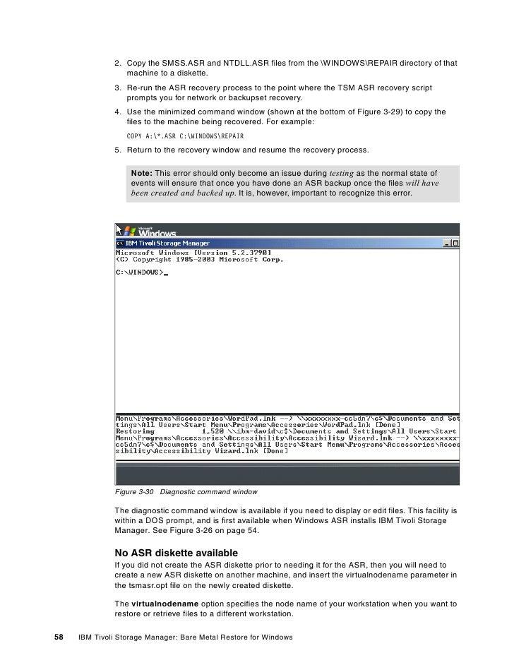 Ibm tivoli storage manager bare machine recovery for microsoft window…
