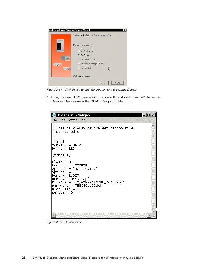 Ibm tivoli storage manager bare machine recovery for windows