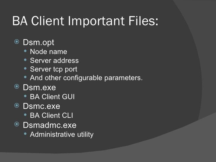 Basics of IBM Tivoli Storage Manager