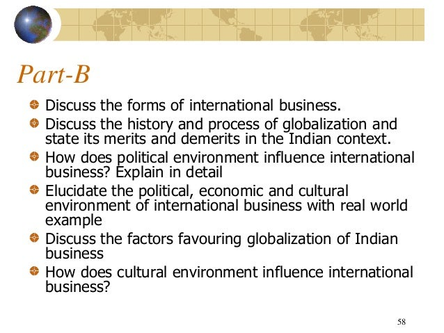merits and demerits of international business This has advantages for both business and overall economy, as more jobs are available for the working class economic dependence of underdeveloped countries when underdeveloped countries account for their sustainability on foreign imports, they fall quickly when supplies drop or prices increase.