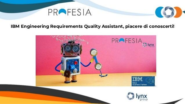 IBM Engineering Requirements Quality Assistant, piacere di conoscerti!
