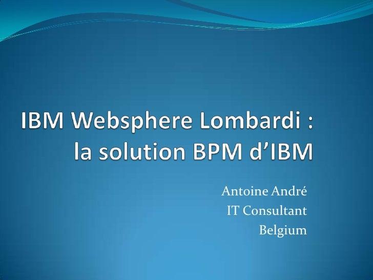 Antoine André IT Consultant      Belgium