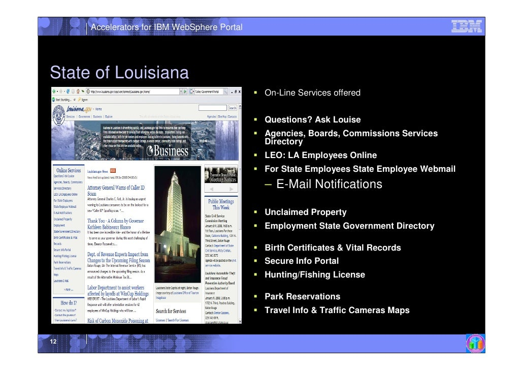 Ibm Web Sphere Portal References Government March 2009