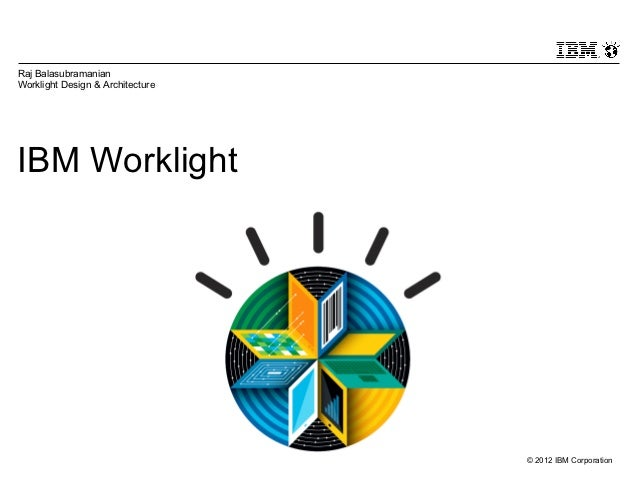 Raj BalasubramanianWorklight Design & ArchitectureIBM Worklight                                  © 2012 IBM Corporation