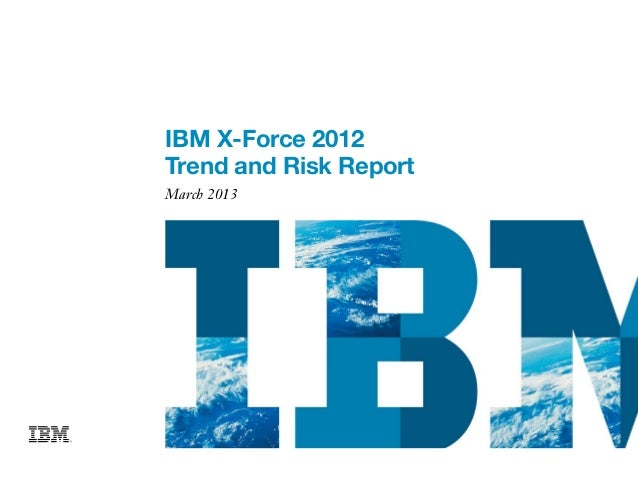 Ibm x force - Trend and Risk Report