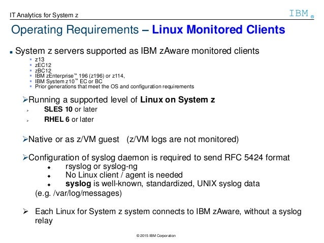 Ibm zaware for Syslog ng template example