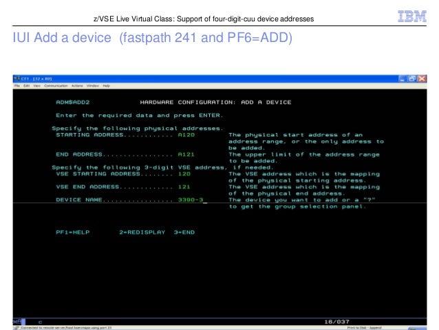 z/VSE 4.3 Support of four-digi...