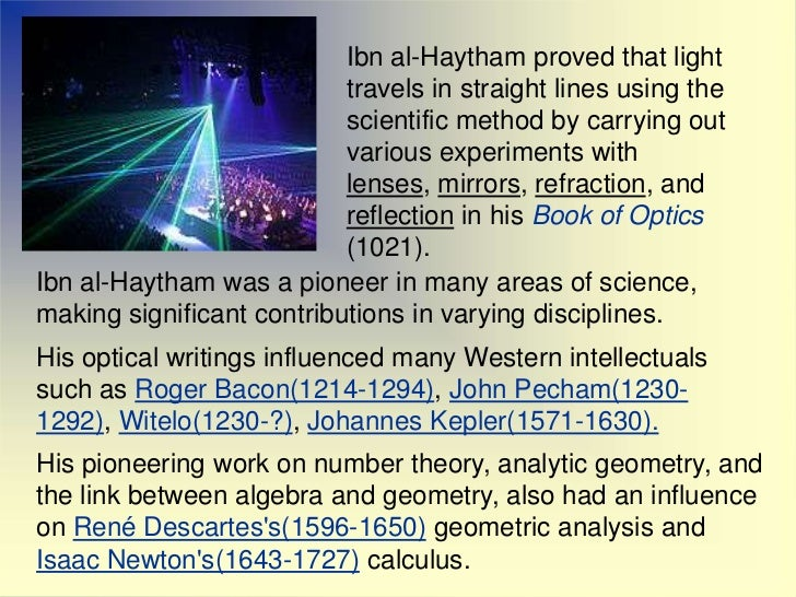 Ibn Al Haytham The Father Of Optics
