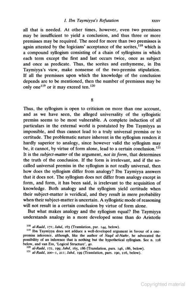 ibn taymiyya against the greek logicians