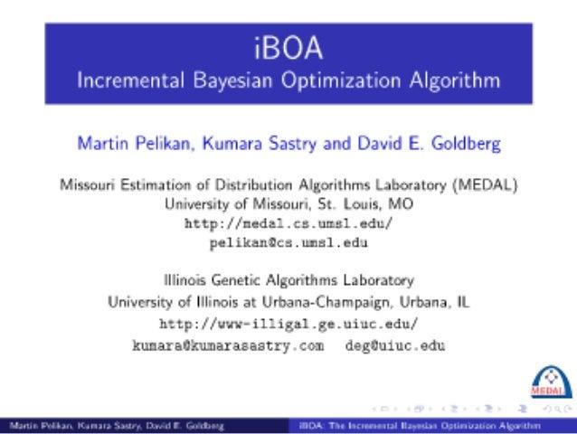 iBOA: The Incremental Bayesian Optimization Algorithm