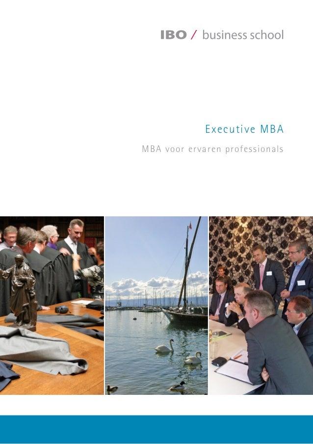 Executive MBA MBA voor ervaren professionals