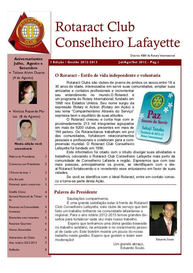 Rotaract Club                                    Conselheiro Lafayette                                                    ...