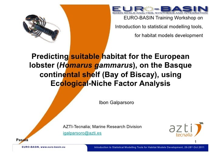 EURO-BASIN Training Workshop on                                                              Introduction to statistical m...