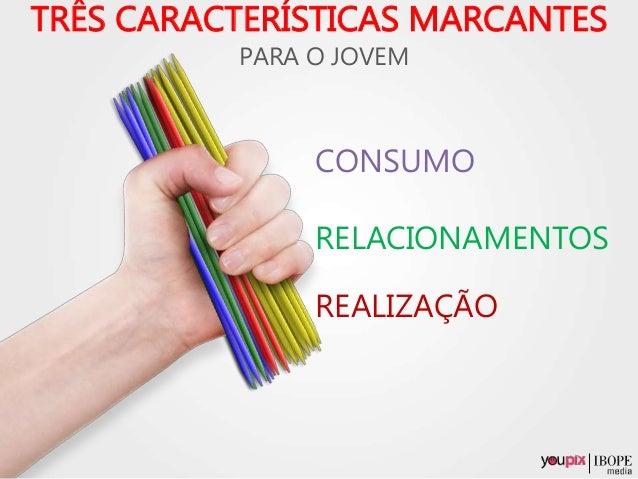 PARA O JOVEM REALIZAÇÃO CONSUMO RELACIONAMENTOS TRÊS CARACTERÍSTICAS MARCANTES
