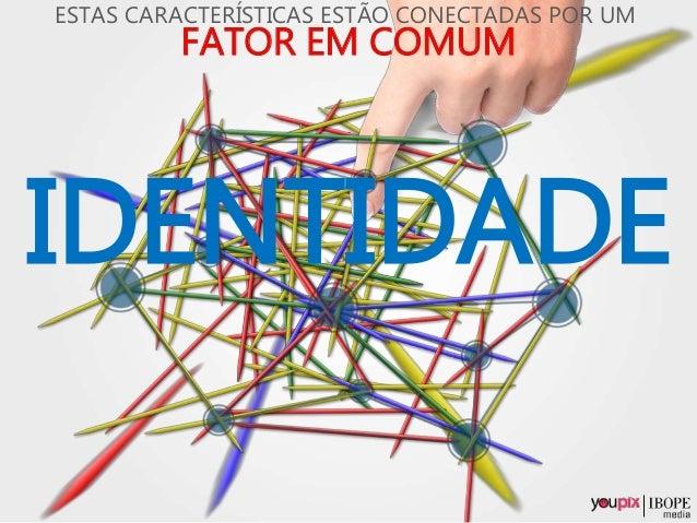 IDENTIDADE FATOR EM COMUM ESTAS CARACTERÍSTICAS ESTÃO CONECTADAS POR UM