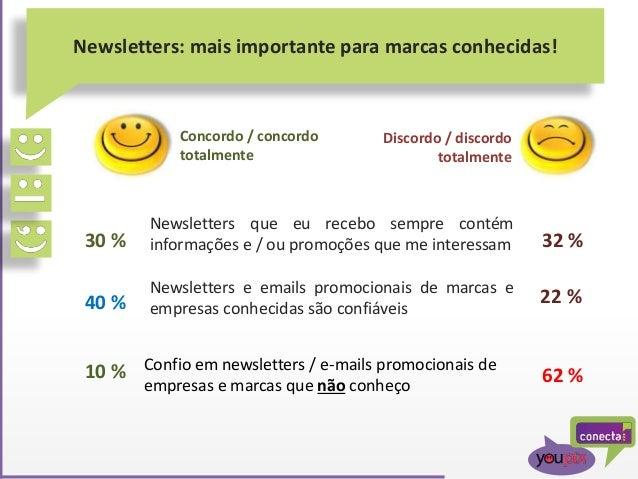 Newsletters: mais importante para marcas conhecidas! Newsletters que eu recebo sempre contém informações e / ou promoções ...