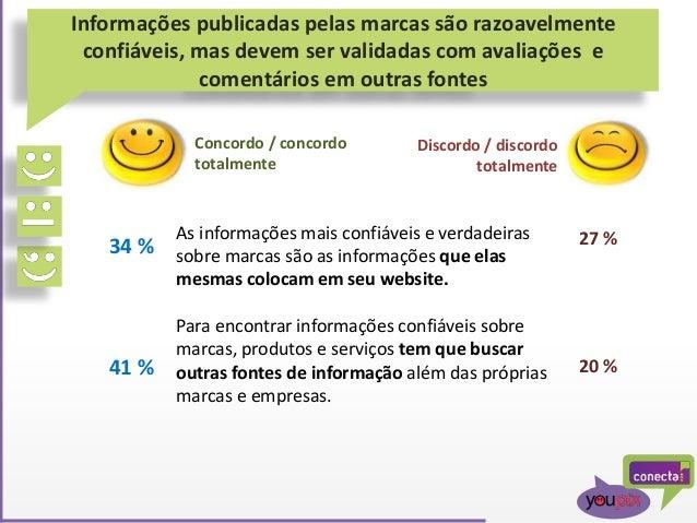 Informações publicadas pelas marcas são razoavelmente confiáveis, mas devem ser validadas com avaliações e comentários em ...