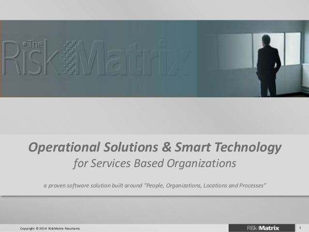 """Operational Solutions & Smart Technology for Services Based Organizations a proven software solution built around """"People,..."""