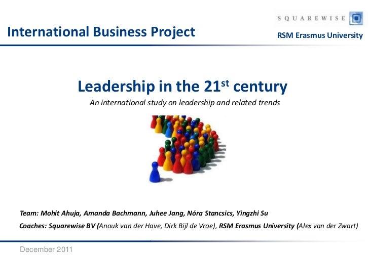 International Business Project                                                    RSM Erasmus University                  ...