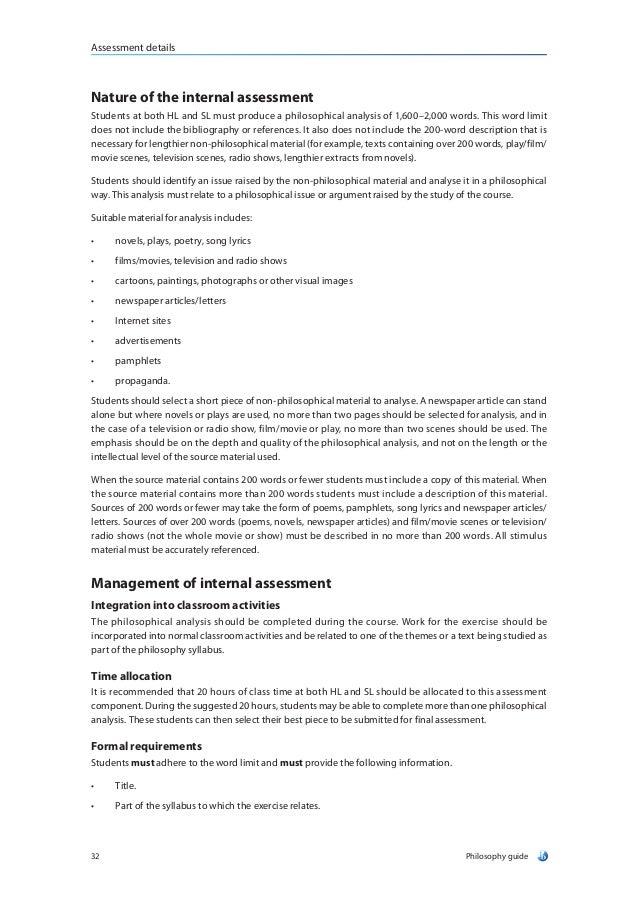 Ib Philosophy Core Theme Essay