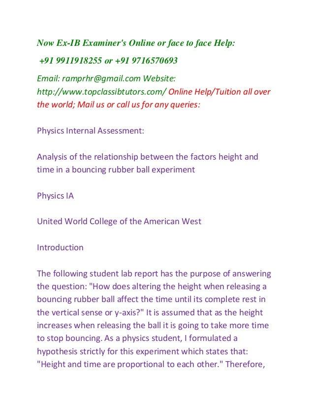 Ib Physics Ia Format Antaexpocoaching