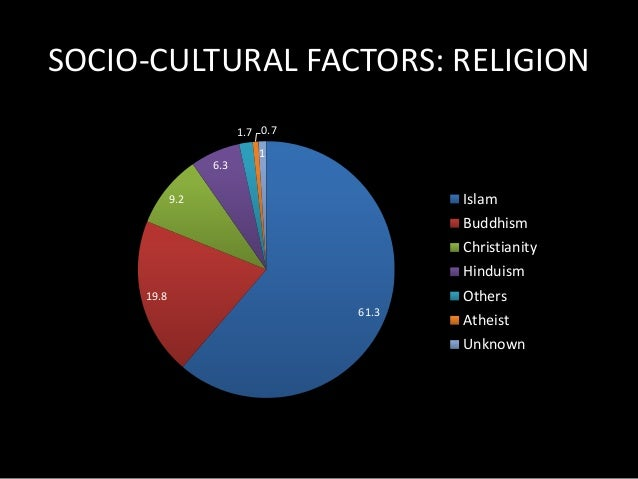 SOCIOCULTURAL FACTOR: HOLIDAYS  • Malaysia celebrates 10 different national  holidays (Eid Celebration, Chinese New Year, ...